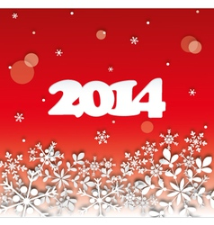 2014 Happy New Year Card vector image