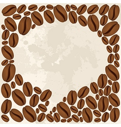 Coffee beans bubble chat concept vector
