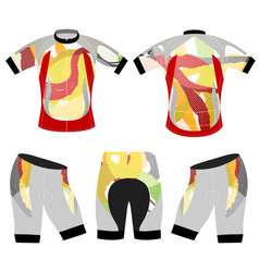 Colors style sports t-shirt vector