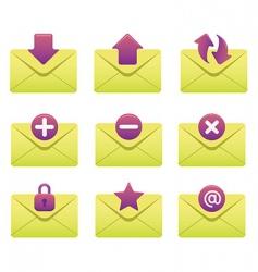 internet icons  envelopes vector image