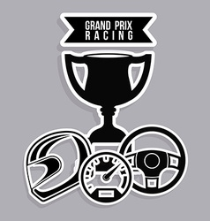 Racing design vector