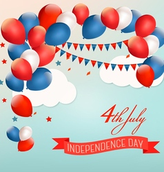 Retro Holiday American background with colorful vector image