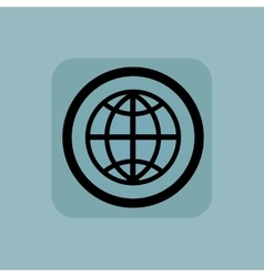 Pale blue globe sign vector