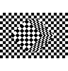 Black and white cube optical vector