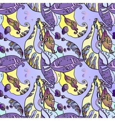 Abstract violet seamless floral pattern with beans vector