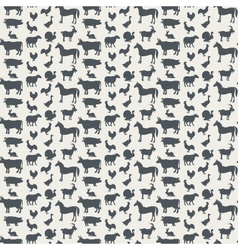 Background of farm animals vector