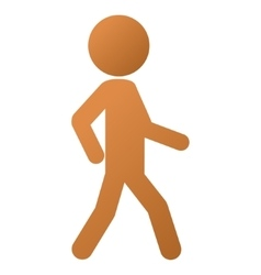 Walking child gradient icon vector