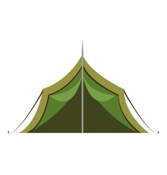 green camping tent graphic vector image