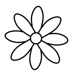 Flower floral petal icon vector