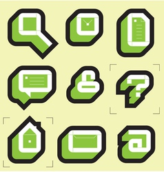 Grid icons for web vector