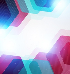 Abstract hexagon geometric colorful background vector