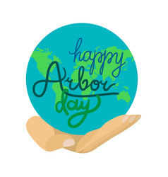 Arbor day greeting vector