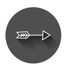 Arrows icon hand drawn with long shadow vector