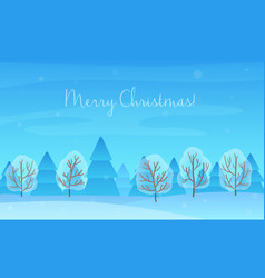 Beautiful Chrismas winter landscape background vector image