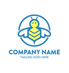 Bee logo-3 vector