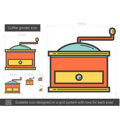 Coffee grinder line icon vector