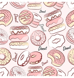 Donut seamless2 vector image vector image