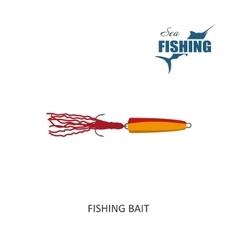 Fishing bait item of fishing vector