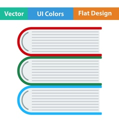 Flat design icon of Stack of books vector image