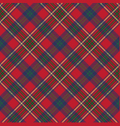 Green red classic tartan check seamless fabric vector