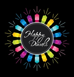 Happy diwali festival greeting design vector