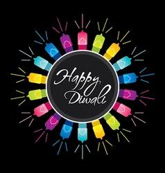 happy diwali festival greeting design vector image