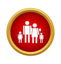 Happy family icon simple style vector image vector image