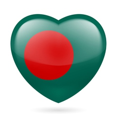 Heart icon of Bangladesh vector image