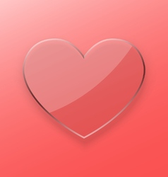 Heart transparent glass concept vector