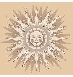 Heraldic sun big vector