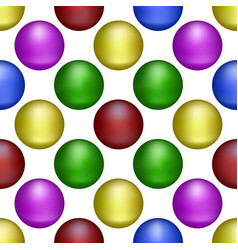 Multicolored balls form the background vector
