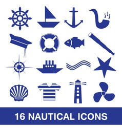 nautical icon collection eps10 vector image vector image