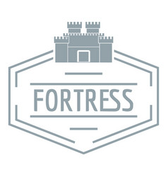 Old fortress logo simple gray style vector