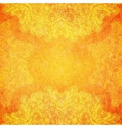 Orange ethnic background vector image vector image
