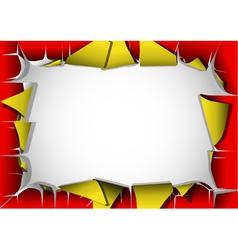 peeling poster vector image vector image