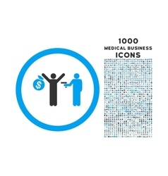 Robbery Rounded Icon with 1000 Bonus Icons vector image