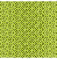 Seamless floral pattern with hand drawn elements vector image