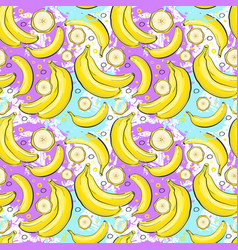 seamless pattern banana fruits summer ornament vector image vector image