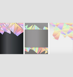 Set of different types of templates for covers vector