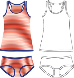 Tank Tops And Panties vector image