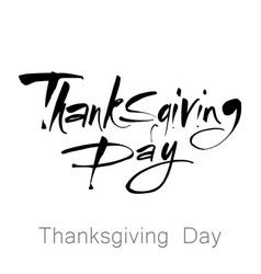 Thanks giving day lettering vector