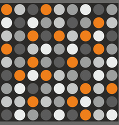 Tile pattern with grey white and orange polka dot vector