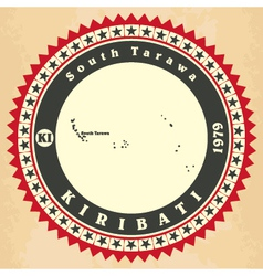 Vintage label-sticker cards of Kiribati vector image vector image