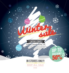 Winter Sale 50 Percent Banner vector image vector image