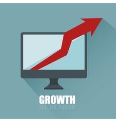 Progress business growth arrow icon vector