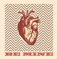 Be mine - valentines design vector