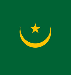 Mauritania country flat style flag vector
