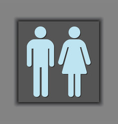 Male and female silhouette universal sign icons vector