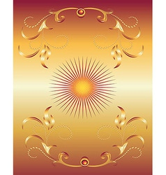 Golden ornament background vector