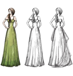Fashion hand drawn vector image